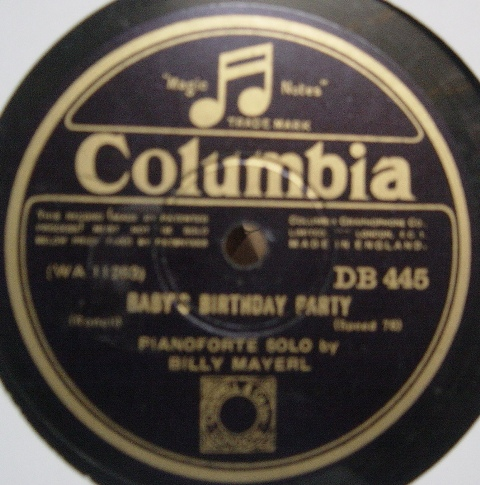 Billy Mayerl - Baby's birthday Party - Columbia DB.445 E